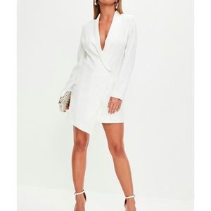 Missguided White Blazer Dress! NWT!